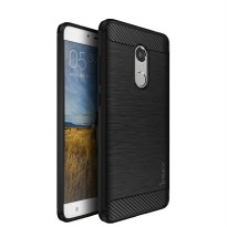 iPAKY Carbon Fiber Back Case for Xiaomi Redmi Note 4 Soft Series