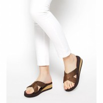 Sophie Paris Sandal Wanita Betty Eva Sandal Brown L-F1564B7L