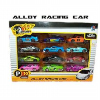 (PROMO) DIE CAST RACING CAR ISI 12PCS - DIE CAST MOBIL