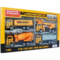 (LIMITED) DIECAST CONSTRUCTION CAR 4 PCS - DIECAST SET