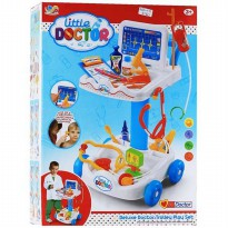 (PROMO) LITTLE DOCTOR TROLLEY BLUE - DOCTOR SET