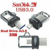 Sandisk Flashdisk OTG 32gb M3 Dual Drive Original New Model