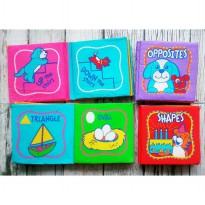 Soft Book anak Opposite , ABC , Shapes / soft book / mainan edukasi anak