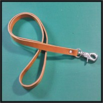 tali id card kulit asl warna tan | lanyard name tag | leather goods -