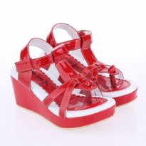 Catenzo Junior Sandal Wedges Anak CABx061 Red Comb