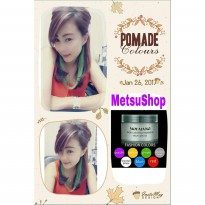 (GREEN) Pomade Warna Hair Colours Colour Color Styling Minyak Rambut Cat Non Permanent HIJAU 120GR