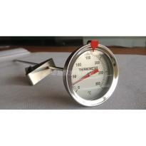 Thermometer minyak panas/ dial thermometer 300 oC stainless steel