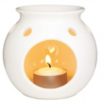 THE BODY SHOP OIL BURNER CERAMIC CRACKLED
