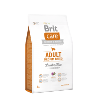 Brit Care - Adult Medium Breed Lamb & Rice 3 kg. Super Premium, Hypoallergenic Makanan Anjing Dewasa