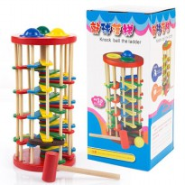 Wooden Knock Ball the ladder