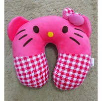 Bantal Leher Empuk & Padat / Travel Pillow HELLO KITTY - Kualitas SNI