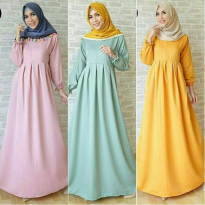 Gamis syari polos balotelli/Basic Dress/Basic Longdress/Longdress Polos