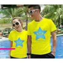 Kaos Couple / Baju Pasangan / Soulmate star yellow