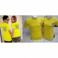 Kaos Couple / Baju Pasangan / Soulmate please say you love me yellow