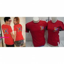 Kaos Couple / Baju Pasangan / Soulmate please say you love me red