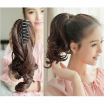 HO4355 - Hair Extension Clips Ponytail Kuncir Curly