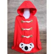 CUDDLE ME - DUFFLE CAPE MULTIFUNCTION JACKET FOR KIDS - RED