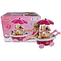 ICE CREAM CART PLAYSET , SWEET SHOP LUXURY CANDY CART , MAINAN ANAK