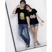 Kaos Couple / Baju Pasangan / Soulmate minion eye hitam