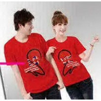 Kaos Couple / Baju Pasangan / Soulmate red
