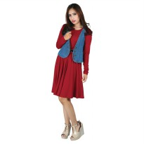 Raindoz Dress Wanita RNYx121 Red Comb