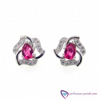 Anting / Giwang Silver 925 White Kristal Sterling Silver 925