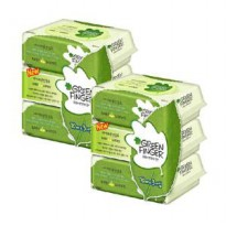 Green Finger Wipes x18 capped cap pack = 1 box of 60 sheets / box individually into buying low / Huggies wipes