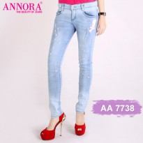 PAKET 4 ANNORA Celana Jeans Blue Sky AA7738