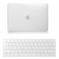 Wakaka Hard Case Macbook Air 13 inch - Matte Transparent + Keyboard Protector White