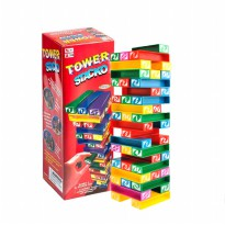 Tower Uno Stacko 45 Colorful Blocks