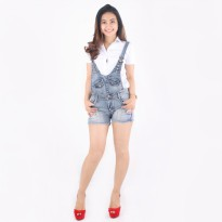 PAKET 4 ANNORA Jumpsuit Jeans Washed Navy KOD9303
