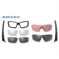 (Promo Hari Ini) Tifosi Pro Escalate SF - Smoke/AC Red/Clear Lens - Black Matte