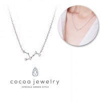Cocoa Jewelry Zodiac Collections Silver Color / Kalung Zodiak - 12 varian