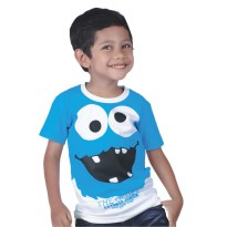 Catenzo Junior Kaos/Tshirt Anak CPSx007 Monster Smile Blue