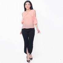 Blus Gaya Korea Model Terbaru Variasi Open Shoulder - Jfashion Vallen