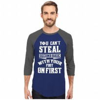 Fantasia T-Shirt Pria 3/4 Lengan Panjang You Can't Steal - Biru Tua