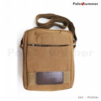 Tas Selempang Pria Original Polo Summer Ruby Canvas Shoulder Bag
