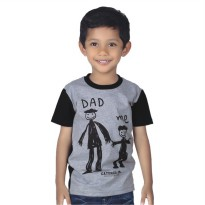 Catenzo Junior Kaos/Tshirt Anak Abu CPSx010 Dad & Me