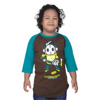 Catenzo Junior Kaos Raglan AnakCPSx053 Brown
