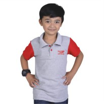 Catenzo Junior Polo Shirt Anak CPLx104 Abu Misty