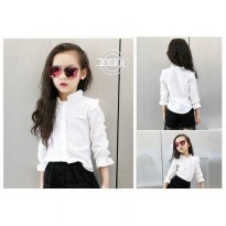 Cutevina - Ready PO Girls Fashion Shirt White / Atasan Anak 3-9th (TN17002)