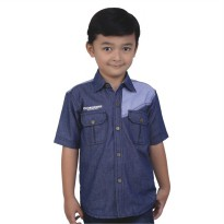 Catenzo Junior Kemeja Denim Anak CMTx033 Biru