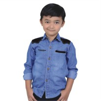 Catenzo Junior Kemeja Denim Anak CMTx031 Blue
