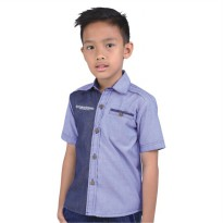 Catenzo Junior Kemeja Denim Anak CMTx034 Blue Comb