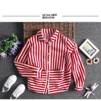 Ready PO Girls Fashion Shirt Stripped / Kemeja Anak 4-13th (TN17005)