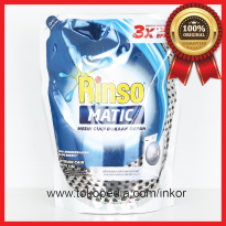 RINSO MATIC DETERJEN CAIR LIQUID FRONT LOAD MESIN CUCI POUCH 1.6L