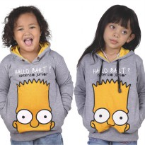 Catenzo Junior Jaket Sweater Anak Abu Misty CPLx912 'Hallo B'