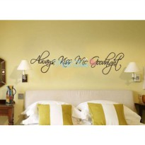 [globalbuy] Always Kiss Me Goodnight Wall Sticker Home Wall Decal Kids Room Decoration Eng/1311417