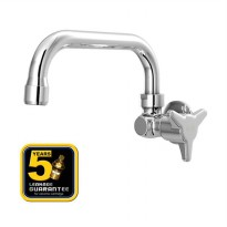 AER Kran Dapur - Keran Air Kuningan / Brass Kitchen Faucet - Wall Mounted HOV 09BX