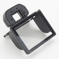Rubber Eyecup with LCD Screen Protector for Canon EOS 50D - Hitam